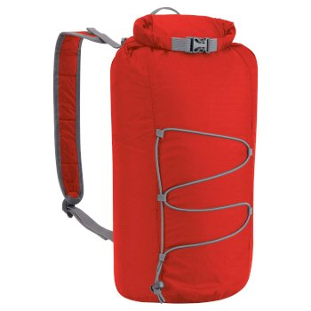 15L Packaway Waterproof Rucksack - Dynamite Red / Quarry Grey