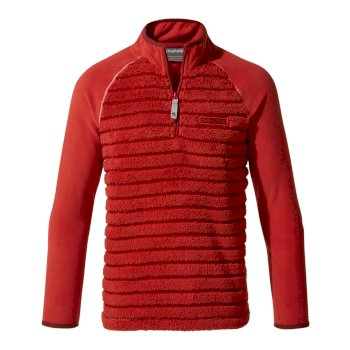 Maddiston Half-Zip Fleece  - Maple Red