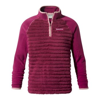 Kids' Maddiston Half-Zip Fleece  - Azalia Pink