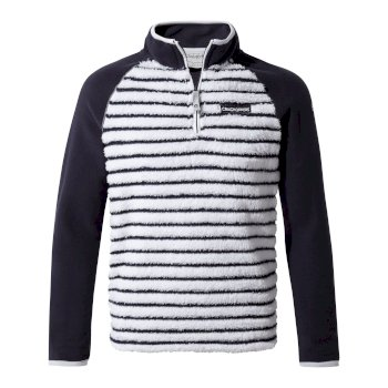 Kids' Maddiston Half-Zip Fleece  - Blue Navy stripe