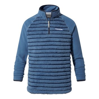 Kids' Maddiston Half-Zip Fleece  - Delft Blue