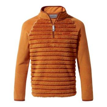 Maddiston Half-Zip Fleece  - Terracotta