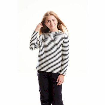 Girls Rosana Crew Neck Blue Navy Stripe