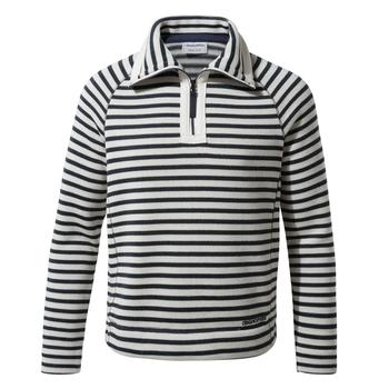 Manuela Half Zip - Blue Navy Stripe