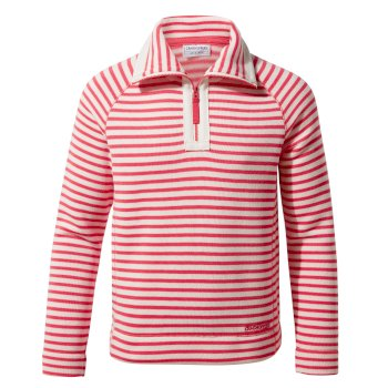 Manuela Half Zip - Rio Red Stripe
