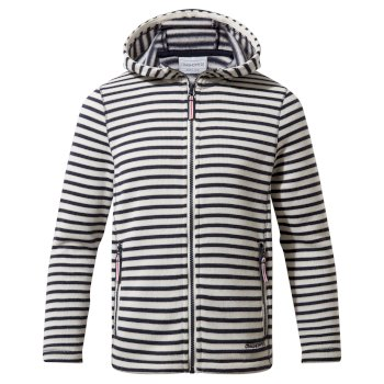 Collier Hooded Jacket - Blue Navy Stripe