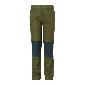 Kiwi Cargo Convertible Trousers - Dark Moss