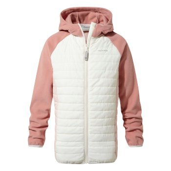 Kids' Neopol Hybrid Jacket - Seasalt / Seashell Pink