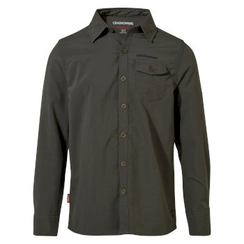 Nosilife Emerson Long Sleeved Shirt - Dark Khaki