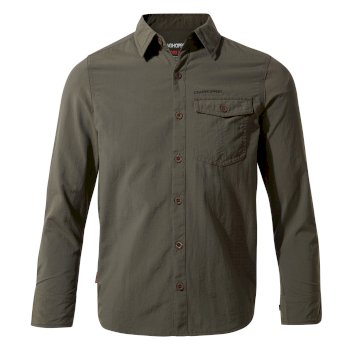 Kids' Insect Shield® Emerson Long-Sleeved Shirt - Dark Khaki
