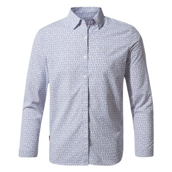Nosilife Betsy Long Sleeved Shirt - Paradise Blue Print