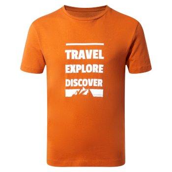 Diego Short-Sleeved T-Shirt Slogan Mountain Terracotta Slogan Mountain