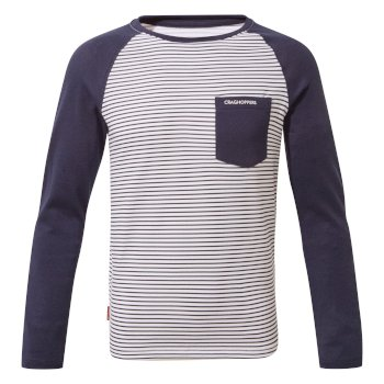 NosiLife Lorenzo Long-Sleeved T-Shirt Blue Navy Stripe / Blue Navy
