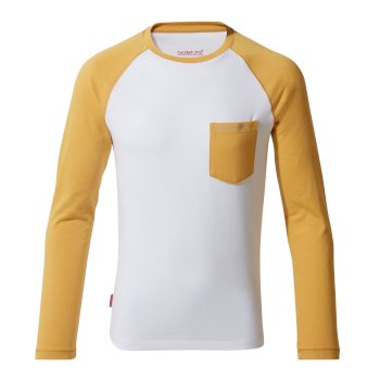 NosiLife Lorenzo Long-Sleeved T-Shirt Indian Yellow / Optic White