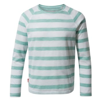 NosiLife Girls Paola Long-Sleeved T-Shirt - Sea Breeze Stripe