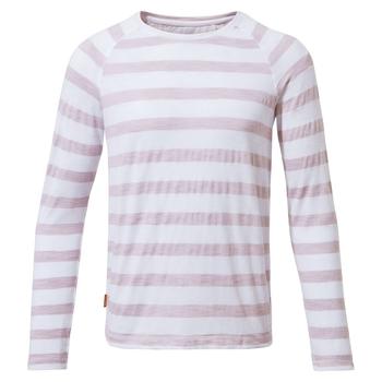 NosiLife Girls Paola Long-Sleeved T-Shirt - Brushed Lilac Stripe