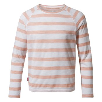 NosiLife Girls Paola Long-Sleeved T-Shirt - Corsage Pink Stripe