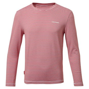 Nosilife Jago Long Sleeved T-Shirt - Pompeian Red Stripe