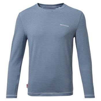 Nosilife Jago Long Sleeved T-Shirt - Blue Navy / Optic White Stripe