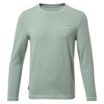 Nosilife Jago Long Sleeved T-Shirt - Sage Stripe