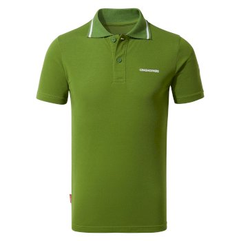 Nosilife Morra Short Sleeve Polo - Agave Green