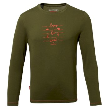 Insect Shield® Jago Long-Sleeved T-Shirt - Dark Moss