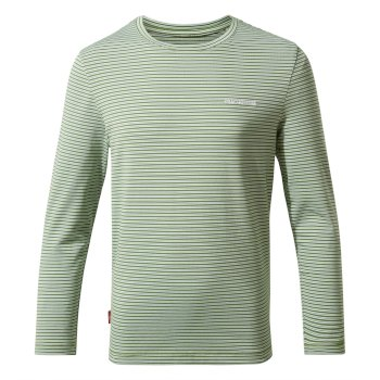 Kids' Insect Shield® Jago Long-Sleeved T-Shirt - Agave Green Stripe