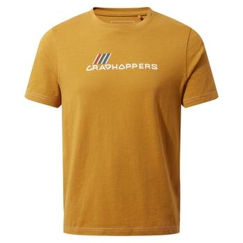 Gibbon Short Sleeved T-Shirt - Dark Butterscotch Brand Carrier