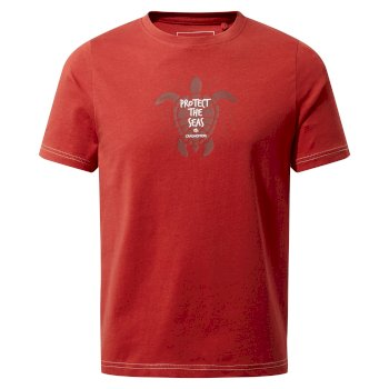 Gibbon Short Sleeved T-Shirt - Pompeian Red Turtle