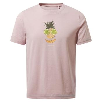 Gibbon Short Sleeved T-Shirt - Brushed Lilac Fruit Face