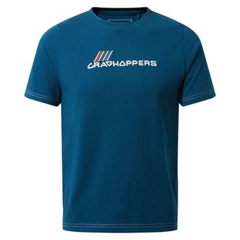 Gibbon Short Sleeved T-Shirt - Poseidon Blue Brand Carrier