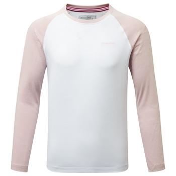 NosiBotanical Abbott Long Sleeved T-Shirt - Optic White / Brushed Lilac