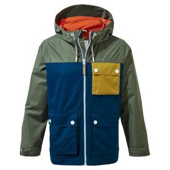 Finley Jacket - Parka Green / Poseidon Blue