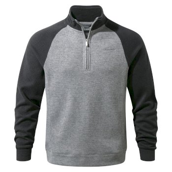 Men's Norton Half-Zip Fleece - Black Pepper / Quarry Grey Marl
