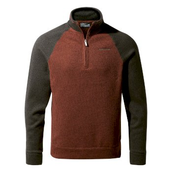 Norton Half-Zip Fleece - Burnt Umber / Bark