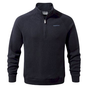 Norton Half-Zip Fleece - Dark Navy Marl