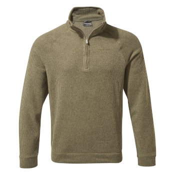 Norton Half-Zip Fleece - Greenwich Green Marl