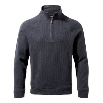 Norton Half-Zip Fleece - Ombre Blue Marl