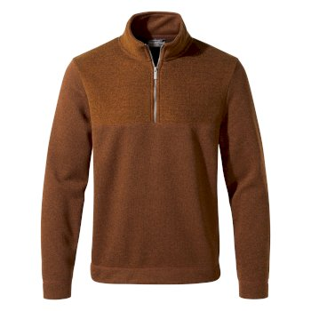 Taransay Half-Zip Fleece - Cinder Toffee