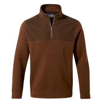 Taransay Half-Zip Fleece - Ibex Brown