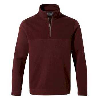Taransay Half-Zip Fleece - Loganberry