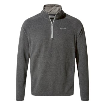 Corey V Half-Zip Fleece - Black Pepper Marl