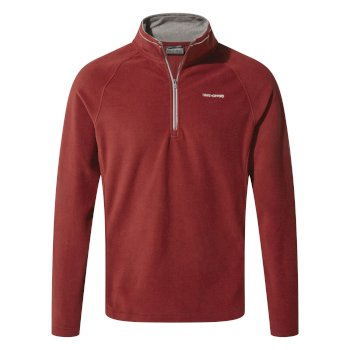 Men's Corey V Half-Zip Fleece - Firth Red / Platinum / Black