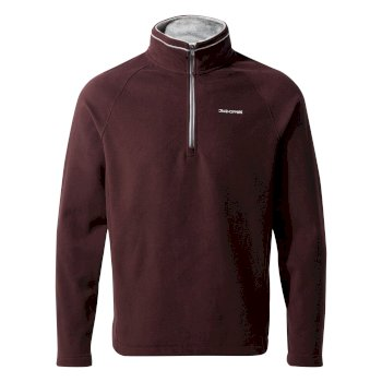 Men's Corey V Half-Zip Fleece - Dark Wine