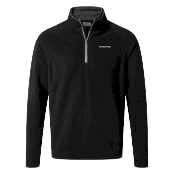 Corey V Half-Zip Fleece - Black
