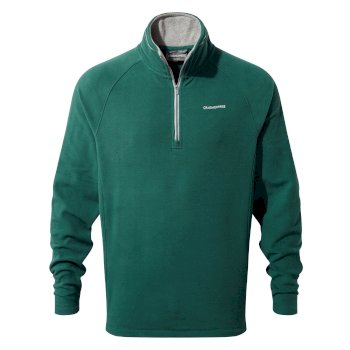 Corey V Half-Zip Fleece - Mountain Green
