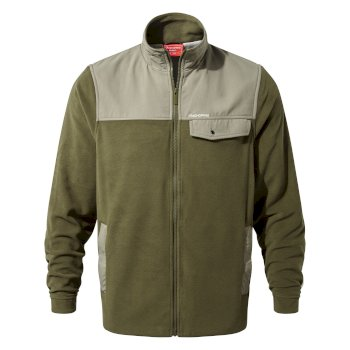 Men's Thurso Fleece Jacket - Dark Moss / Black Pepper