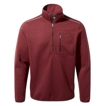 Men's Etna Half-Zip Fleece     - Brick Red