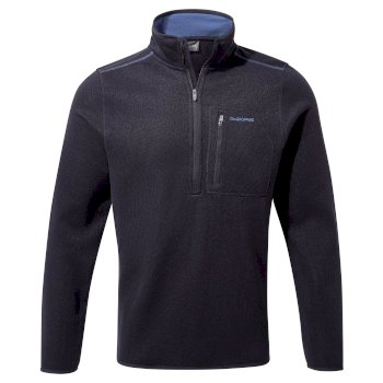 Etna Half-Zip Fleece     - Dark Navy Marl
