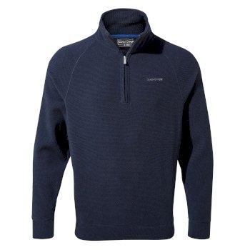 Leto Half-Zip - Blue Navy Stripe